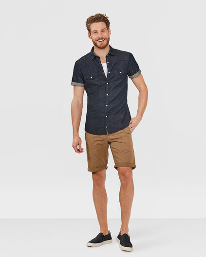 HERREN-REGULAR-FIT-CHINO-SHORTS Karamell