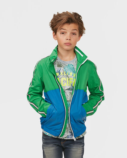 JUNGEN-WINDJACKE IN COLORBLOCK-OPTIK Dunkelblau