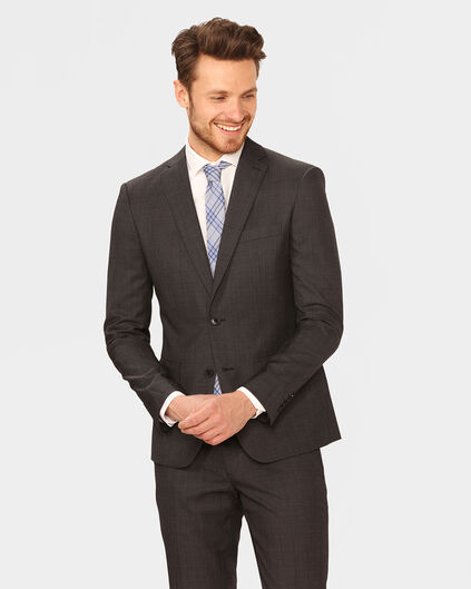 HERREN-ULTRA-SLIM-FIT-SAKKO TOM Dunkelgrau