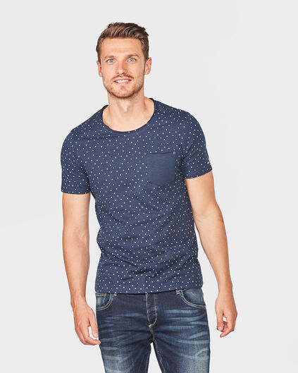 HEREN BLUE RIDGE PRINT T-SHIRT Marineblau