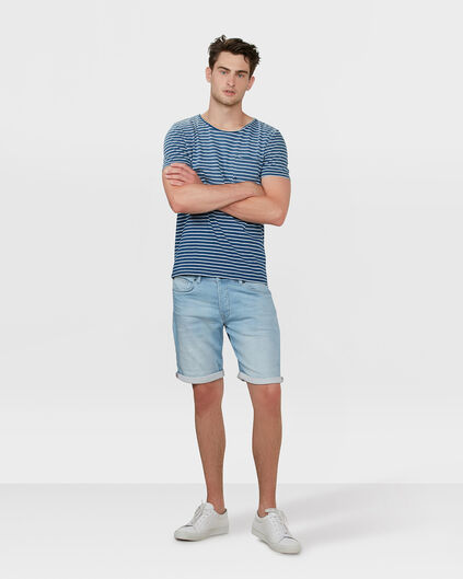 HERREN-REGULAR-STRAIGHT-JOG-DENIM-SHORT Hellblau