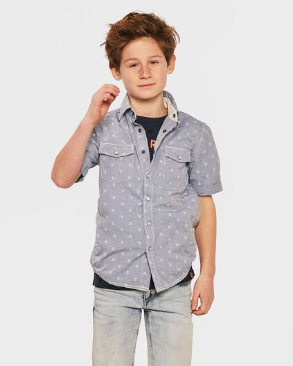 JUNGEN-REGULAR-FIT-HEMD Blau