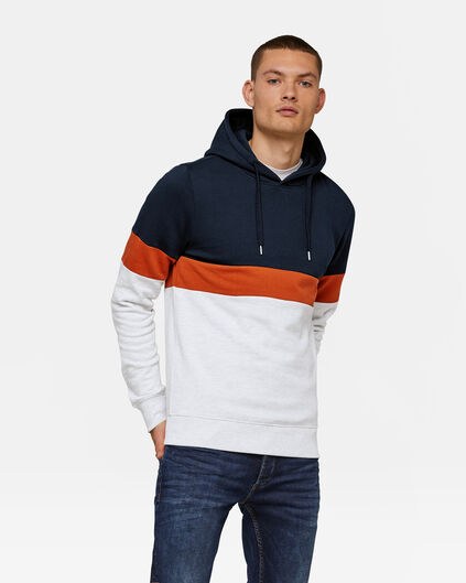 HERREN-SWEATSHIRT IN COLOURBLOCK-OPTIK Orange