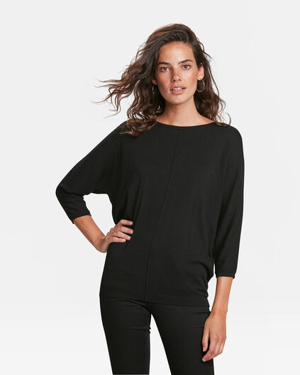 DAMENPULLOVER IN OVERSIZED-OPTIK Schwarz