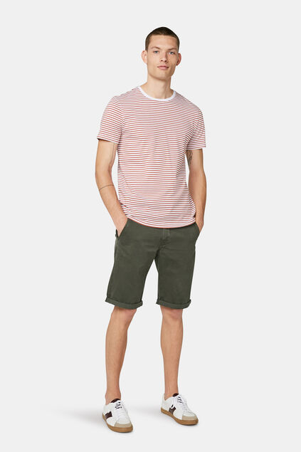 Herren-Chino-Shorts (Long Fit) Armeegrün