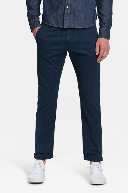 Herren-Slim-Fit-Chinos mit Tapered Leg Marineblau