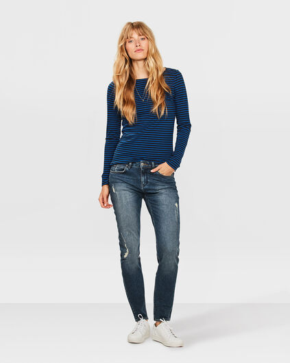 DAMEN-LOW/MID-RISE-BOYFRIEND-COMFORT-STRETCH-JEANS Blau