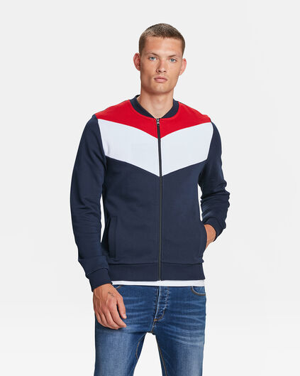 HERREN-SWEATJACKE IN COLOURBLOCK-OPTIK Marineblau