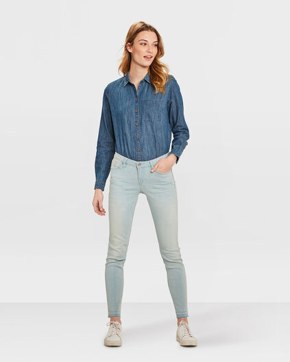 DAMEN-SUPERSKINNY-JEANS AUS HIGH-STRETCH-DENIM Hellblau