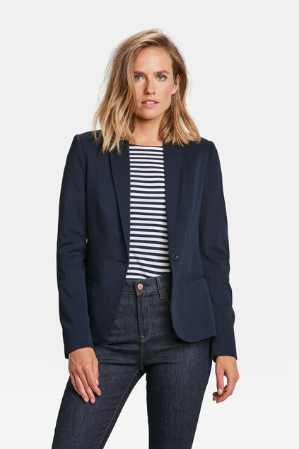 Damen-Regular -Fit-Blazer Dunkelblau