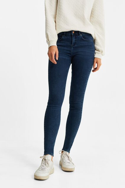 Damen-Superskinny-Jeans aus Superstretch Dunkelblau