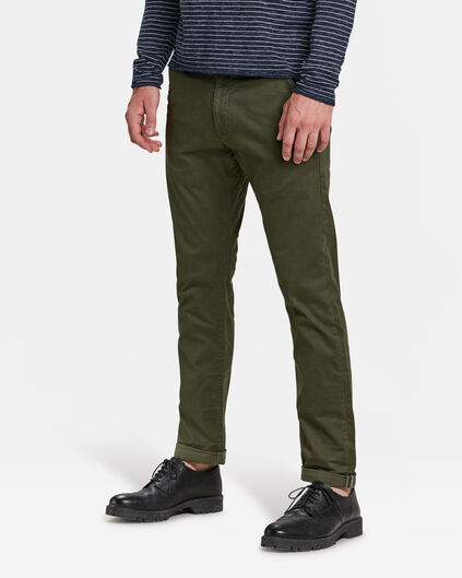 HERREN-SLIM-FIT-CHINO MIT TAPERED LEG Armeegrün
