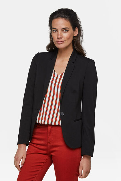 Damen-Regular -Fit-Blazer Schwarz