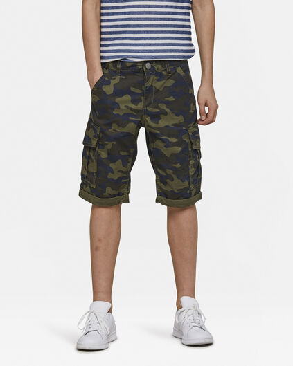 Jungen-Regular-Fit-Shorts Grün
