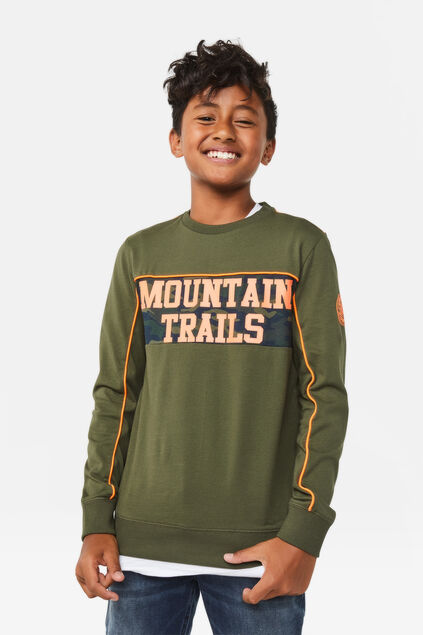 "Jungenshirt ""Mountain Trails"" Armeegrün"