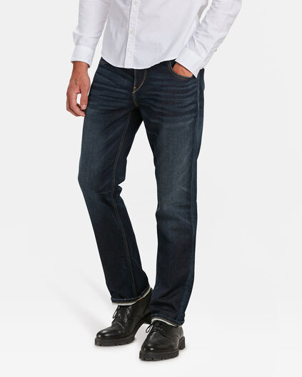 HERREN-JOG-DENIM MIT TAPERED LEG Dunkelblau