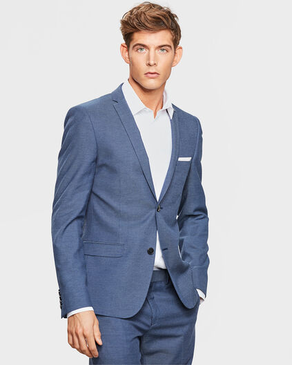 SKINNY FIT-HERRENSAKKO Marineblau