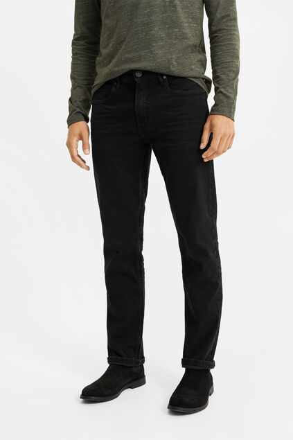 Herren-Relaxed-Fit-Jeans mit Super-Stretch Anthrazit