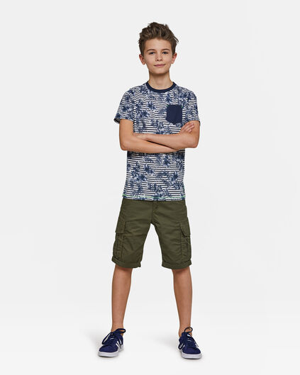 Jungen-Regular-Fit-Shorts Dunkelgrün