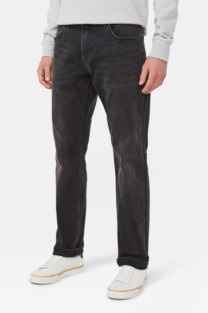 Herren-Stretch-Jeans mit Tapered Leg Schwarz