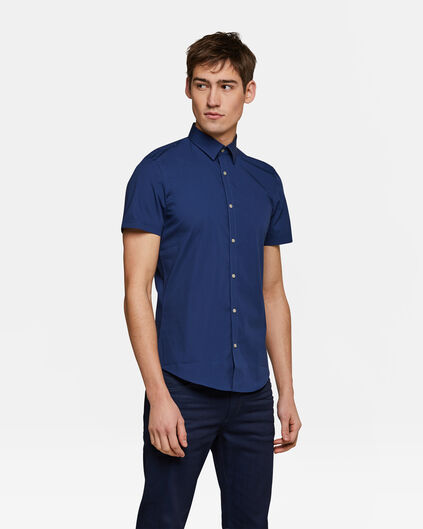 Herren-Slim-Fit-Hemd mit Stretch Blau