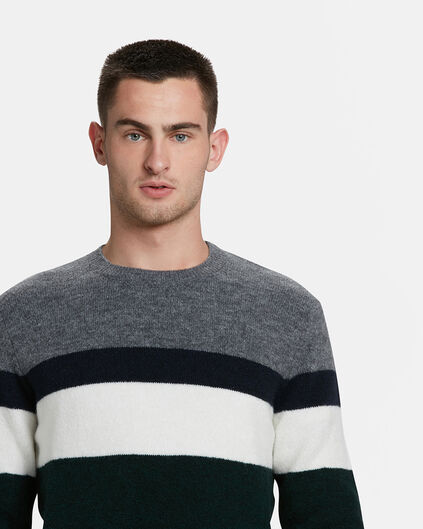 HERRENPULLOVER IN COLOURBLOCK-OPTIK Grau