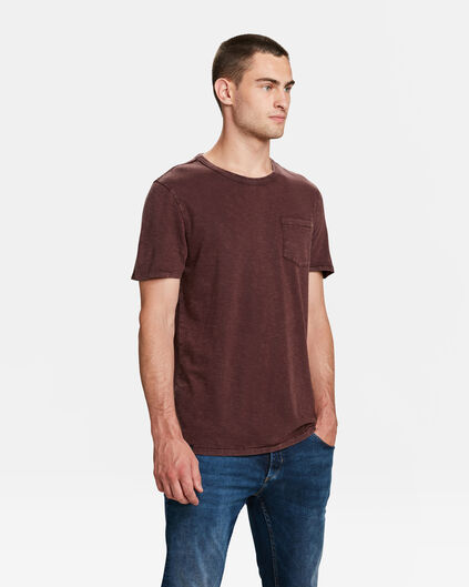 HERREN-T-SHIRT IN GARMENT-DYE-OPTIK Dunkelrot