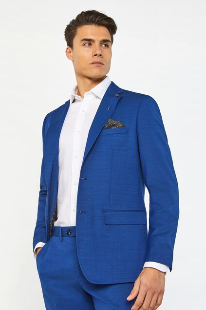 "Herren-Regular-Fit-Sakko ""Johnson"" Blau"