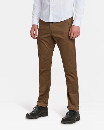 HERREN-SLIM-FIT-CHINO MIT TAPERED LEG Zimtbraun
