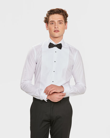 HERREN-SMOKINGHEMD MIT SLIM-FIT-PASSFORM Weiß