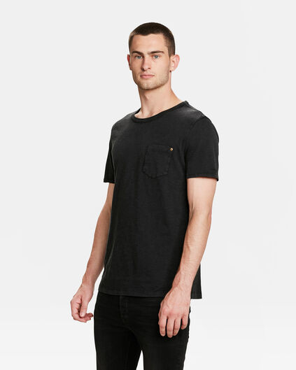 HERREN-T-SHIRT IN GARMENT-DYE-OPTIK Schwarz