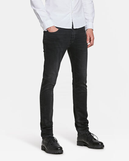HERREN-SKINNY-TAPERED-SUPER-STRETCH-JEANS Schwarz