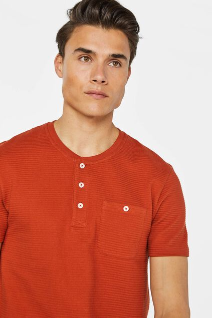 Herren-T-Shirt mit Strukturmuster Orange
