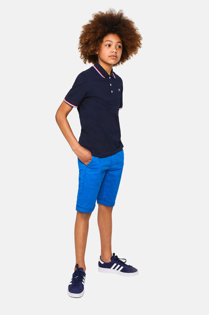 Jungen-Slim-Fit-Chinoshorts Blau