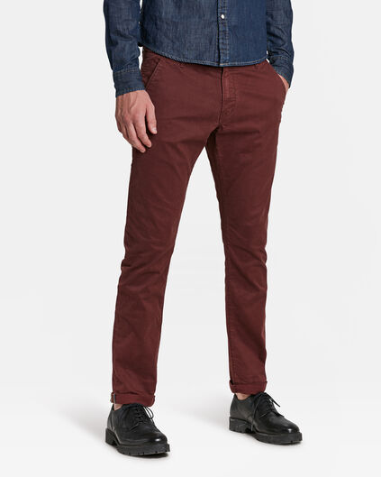 HERREN-SLIM-FIT-CHINO MIT TAPERED LEG Weinrot