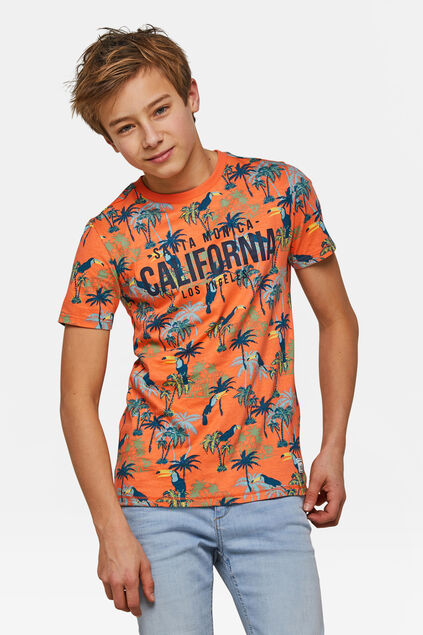Jungen-T-Shirt mit California-Print Orange