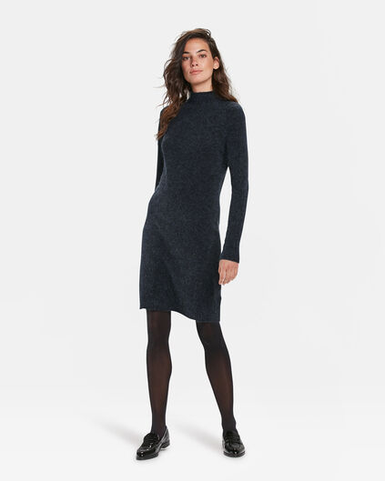 DAMEN-STRICKKLEID Marineblau
