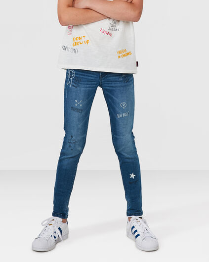 MÄDCHEN-SUPERSKINNY-POWER-STRETCH-JEANS Blau