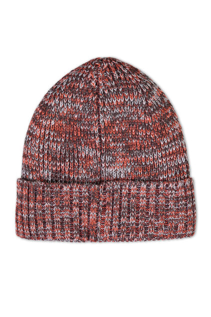 Herren-Beanie aus Woll-Mix Orange