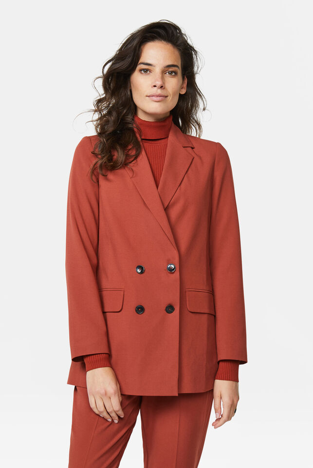 Damen-Regular-Fit-Blazer Braun