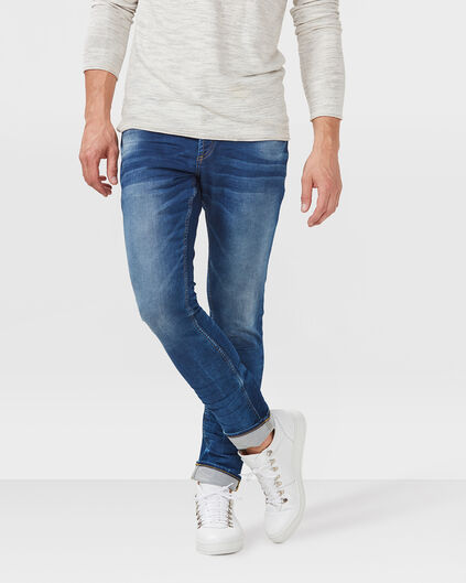 HERREN-SLIM-TAPERED-JOG-DENIM Blau