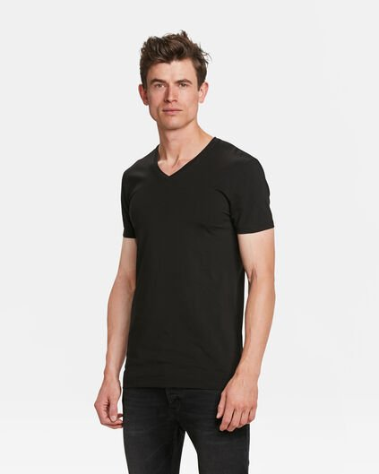 HERREN TALL FIT T-SHIRT 2ER-PACK Schwarz