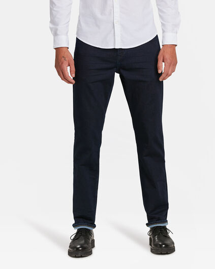 HERREN-JOG-DENIM MIT TAPERED LEG Indigo