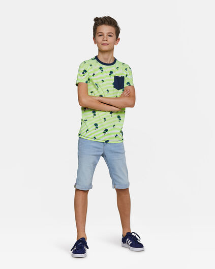Jungen-Jog-Denim-Shorts mit Slim-Fit-Passform Hellblau
