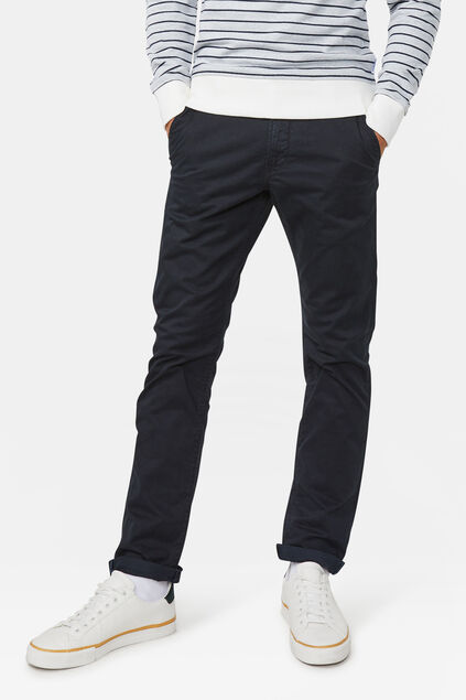 Herren-Slim-Fit-Chinos mit Tapered Leg Schwarz