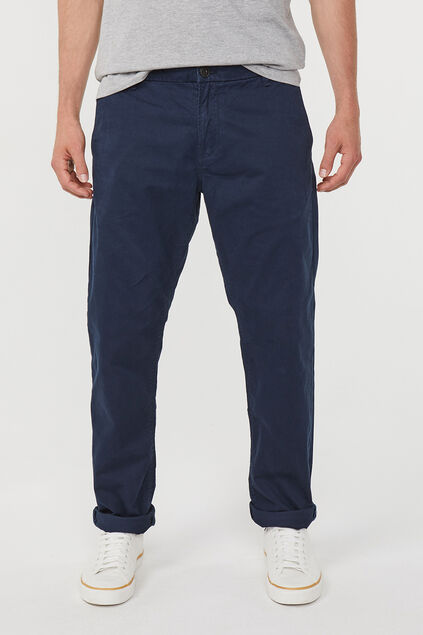 Herren-Regular-Fit-Chinos Dunkelblau