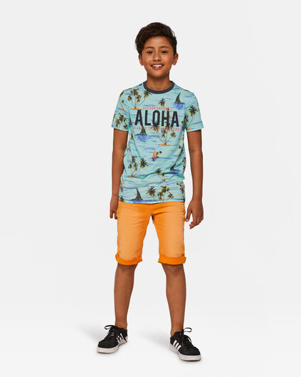 Jungen-Jeansshorts Orange