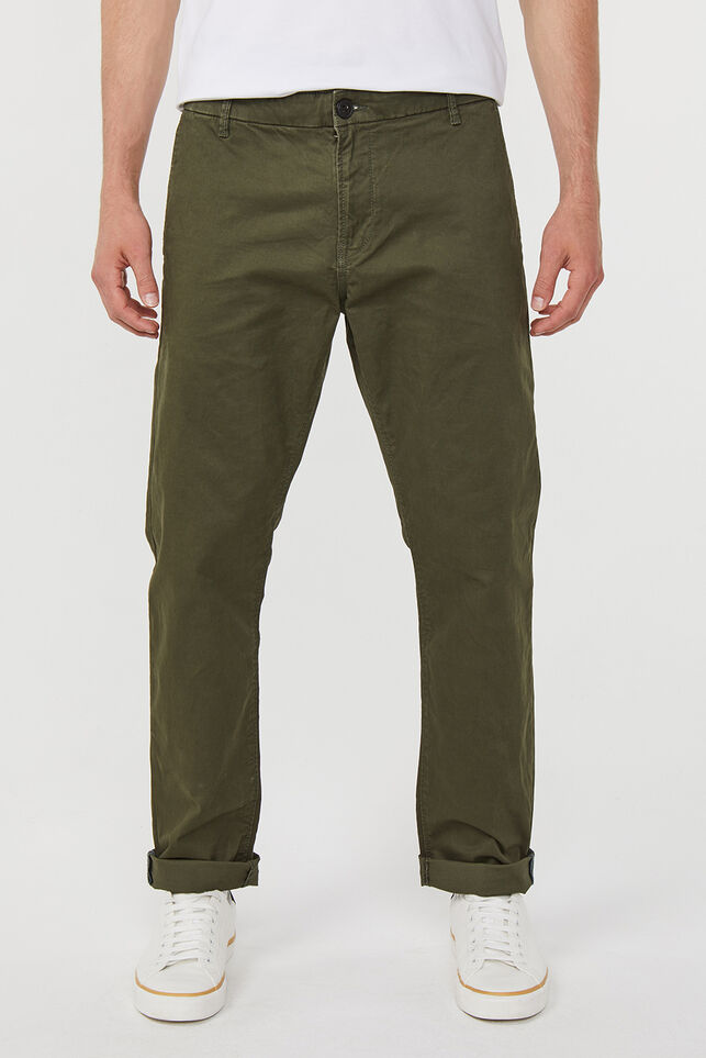Herren-Regular-Fit-Chinos Dunkelgrün
