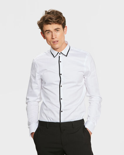 HERREN-SLIM-FIT-SMOKINGHEMD Weiß