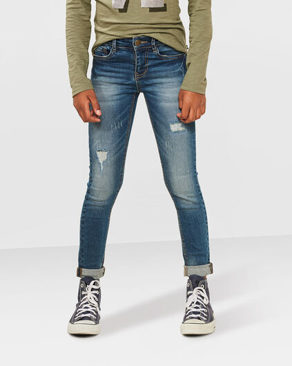 MÄDCHEN-SUPERSKINNY-REPAIR-POWER-STRETCH-JEANS Blau